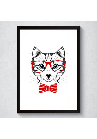 Quadro Decorativo Gato