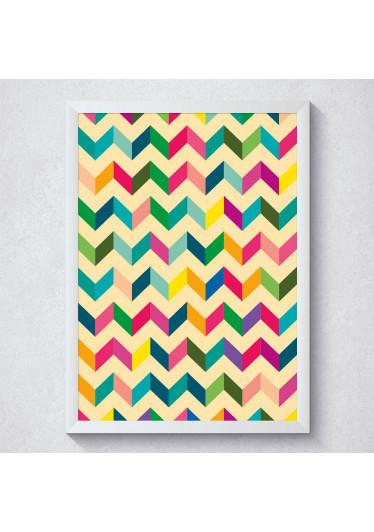 Quadro Decorativo Geométrico Abstrato