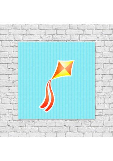 Conjunto de Quadros Decorativos Infantis Pipa