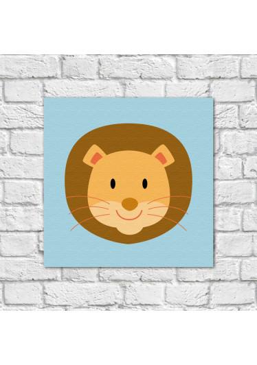 Conjunto de Quadros Decorativos Infantil Animais Leão