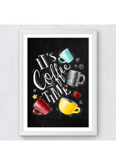Quadro Decorativo It's Coffee Time