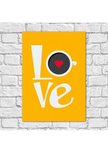 Quadro Decorativo Love Café