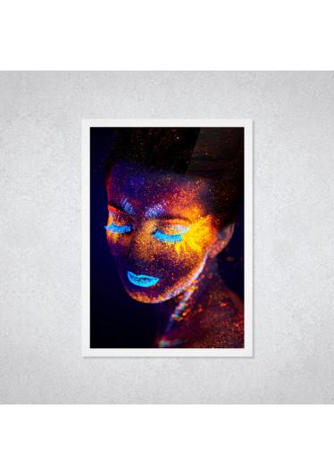 Quadro Decorativo Mulher Figurativo Neon
