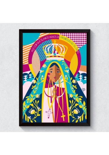 Quadro Decorativo Nossa Senhora da Aparecida