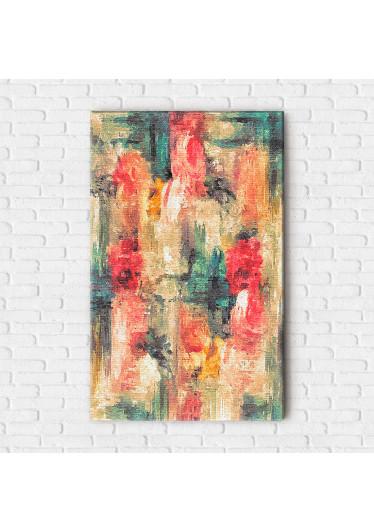 Quadro Decorativo Pintura Abstrata Traços de Tinta