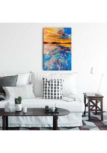 Quadro Decorativo Pintura Abstrata Por do Sol