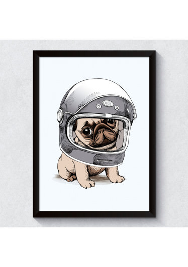 Quadro Decorativo Pug Racer