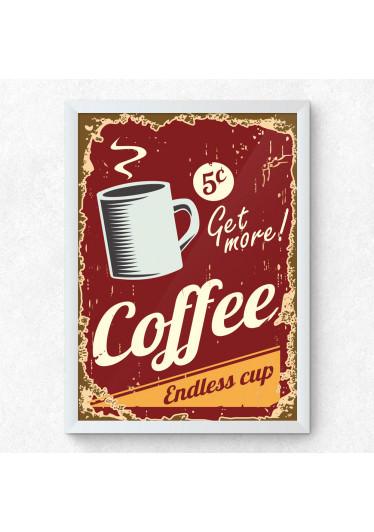 Quadro Decorativo Retro Coffe
