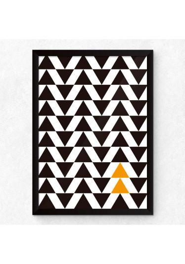 Quadro Decorativo Triângulos Abstratos