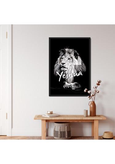 Quadro Decorativo Leão De Judá Yeshua