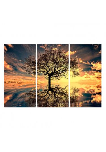 Conjunto de Quadros Decorativos arvore seca refletida