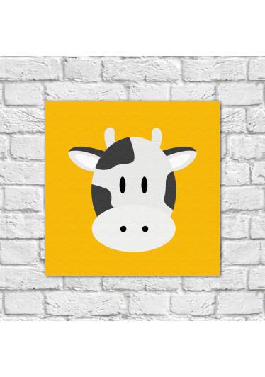 Conjunto de Quadros Decorativos Infantil Animais Vaca