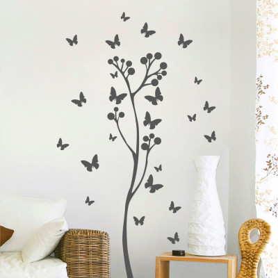 Adesivo Decorativo de Paredede Parede Árvore com Borboletas