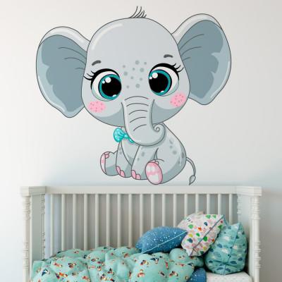 Adesivo de Parede Infantil com Elefante
