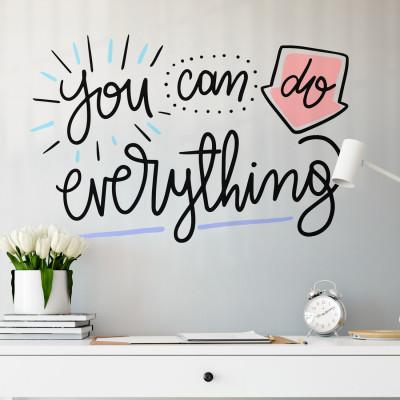 """Adesivo de Parede """"You Can Do Everything"""""""