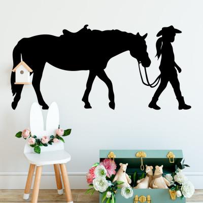 Adesivo de Parede com Cavalo Florido