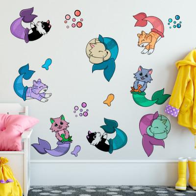 Adesivo de Parede Infantil com Desenho de Animais Fofos
