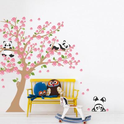Adesivo de Parede Árvore Pandas