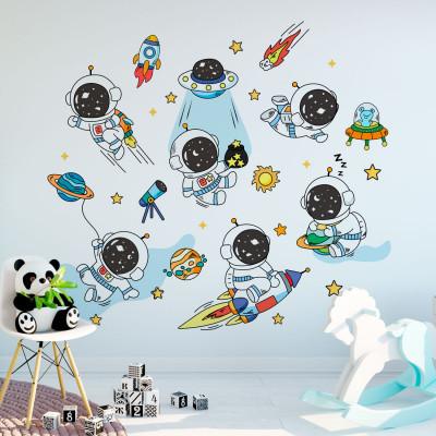 Adesivo de Parede Infantil Animais Astronautas
