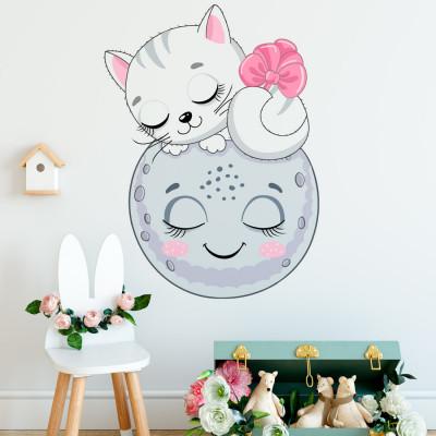Adesivo de Parede para quarto de menina com Elefantinho com Estrelas (Roxo)