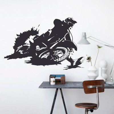 Adesivo de Parede Motocross