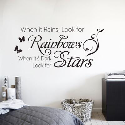 """Adesivo de Parede """"When it Rains, Look for Rainbows..."""""""
