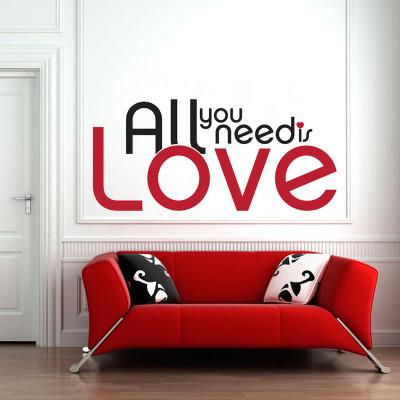 Adesivo de Parede All You Need Is Love