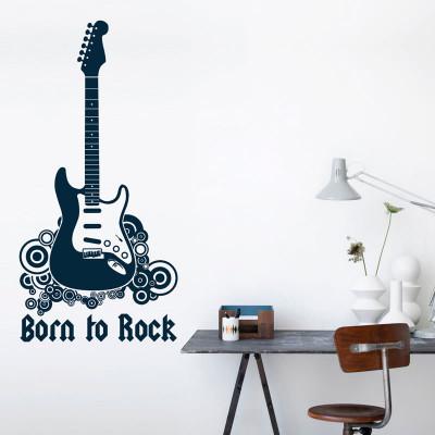 Adesivo de Parede Born to Rock Nascido Para o Rock