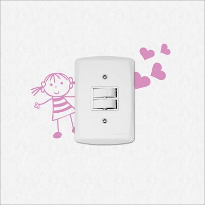 Adesivo para Interruptor Menina