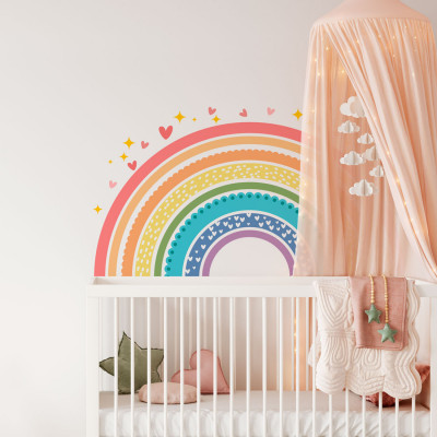 Adesivo de Parede Arco-Íris Infantil