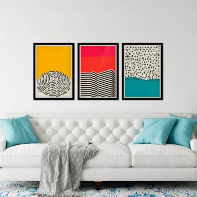 Conjunto de Quadros Abstrato Minimalista