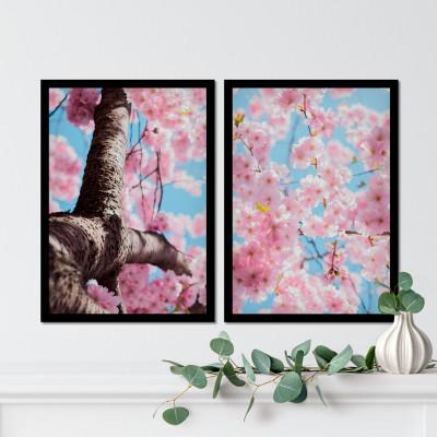 Conjunto de Quadros Decorativos Papoulas Rajadas