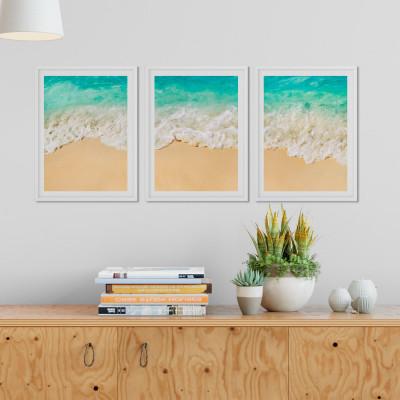 Conjunto de Quadros Decorativos Praia