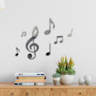 Espelho Decorativo Notas Musicais. Confeccionado em Acrílico Espelhado