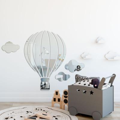 Espelho Decorativo Balão e Nuvens