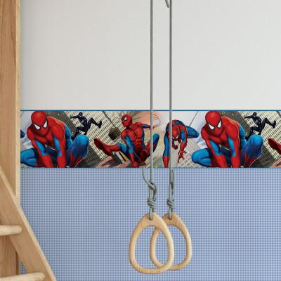 Faixa Decorativa Infantil Homem Aranha - Disney - Rolo com 5 Metros