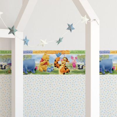 Faixa Decorativa Infantil Ursinho Pooh - Disney - Rolo com 5 Metros