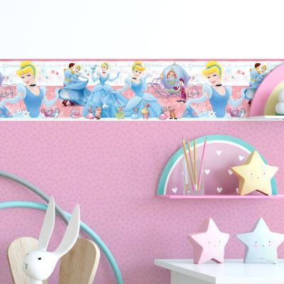 Faixa Decorativa Infantil Cinderela - Disney - Rolo com 5 Metros