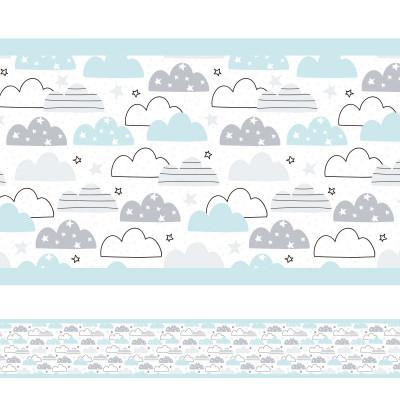 Faixa Decorativa Nuvens Divertidas
