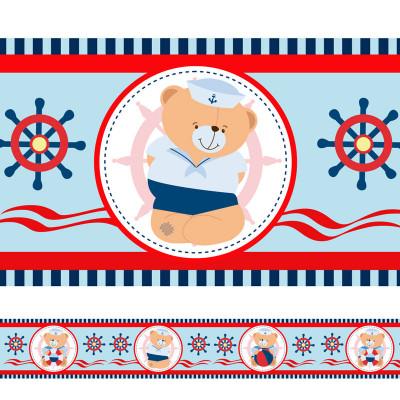 Faixa Decorativa Ursos Marinheiros