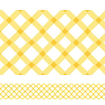 Faixa Decorativa Xadrez Amarela