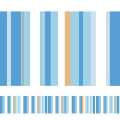 Faixa Decorativa Listrada (Tons de Azul Claro)