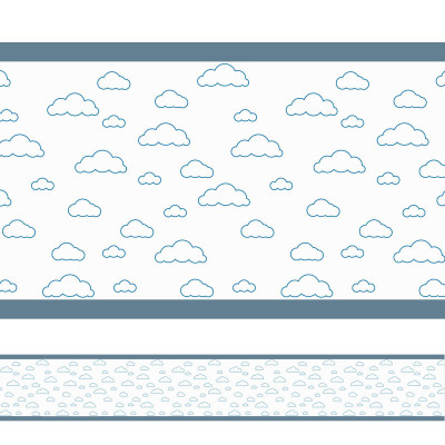 Faixa Decorativa Nuvens Simples Azul