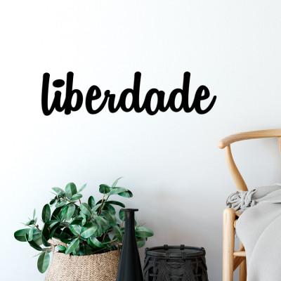 """Palavra Decorativa 3D """"Liberdade"""""""
