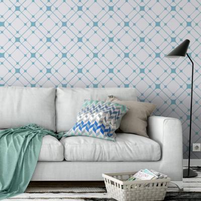 Papel de Parede Abstrato Azul (Teias)