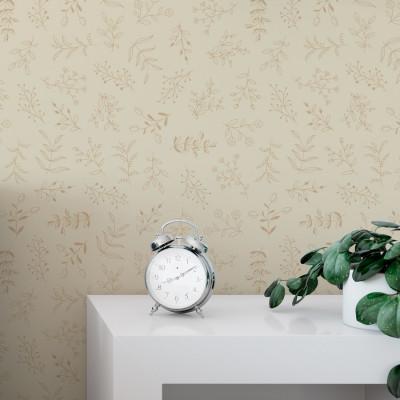 Papel de Parede Floral Delicado Minimalista