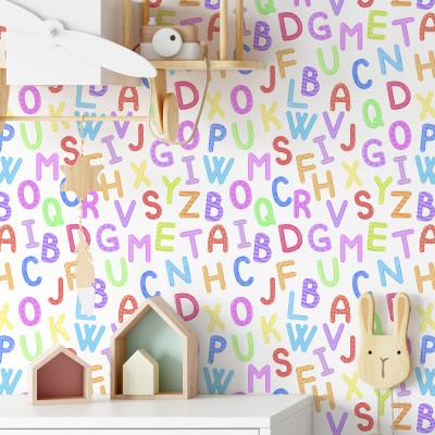 Papel de Parede Alfabeto Infantil