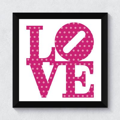 Quadrinho Decorativo Love