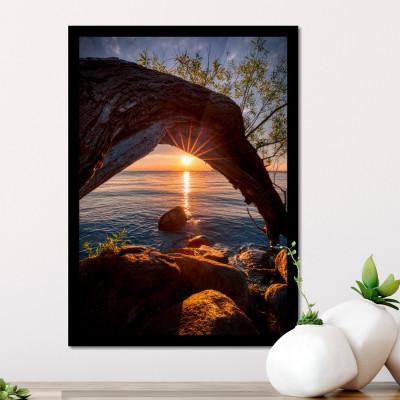 Quadro Decorativo Por do Sol no Mar