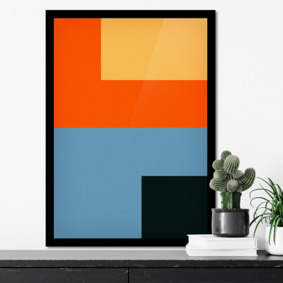 Quadro Decorativo Abstrato Colorido Minimalista